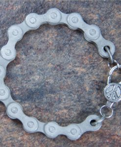 Matte-finish-steel-bike-chain-bracelet-2