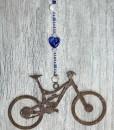 Mountain Bike Sun Catcher Cobalt Heart