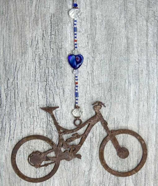 Lg-Mnt-Bike-Azure-marbled-Glass-Heart