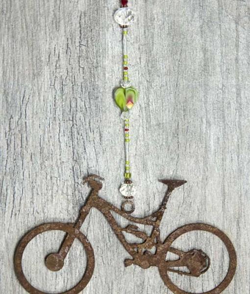 green marbled mountain bike sun catcher