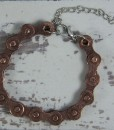 Copper-steel-bike-chain-bracelet