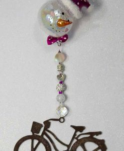Large-Cruiser-Rustic-Finish-pink-accents-snowman-ornament