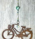 Large Cruiser Sun Catcher with Aqua Heart