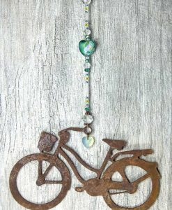 Lg-Cruiser-Aqua-Marbled-Glass-Heart-with-hanging-crystal