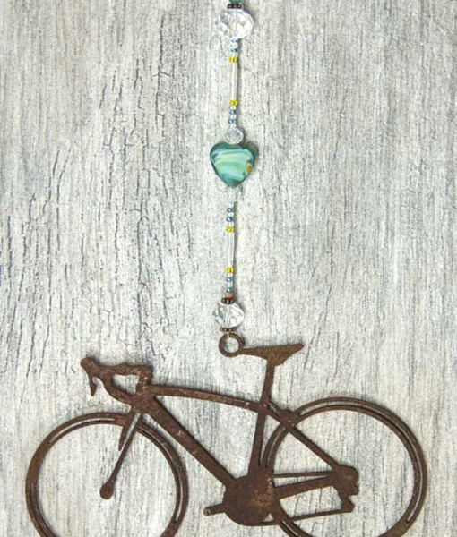 Road Bike Sun Catcher Aqua Heart