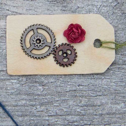 gears with rose