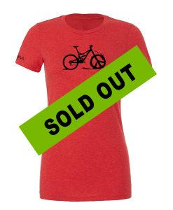 Women's WTPW -08  Tri Blend Relaxed Peace Wheel Red Black SOLD OUT