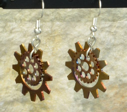 Bike Gears-Sunflower-Earrings_Custom