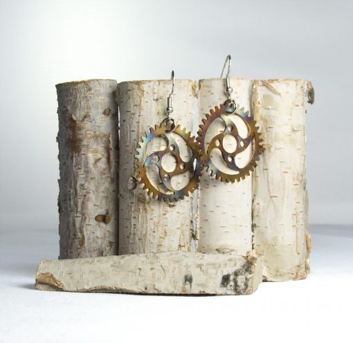 Cycling Jewelry Chain Ring Earrings