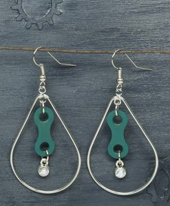 BikeChain-Jewelry_Earrings_Upcycled