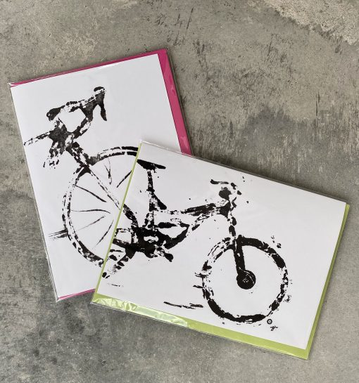 Bicycle Art, MTB, Road Bike, Cycling Gifts, Greeting Cards