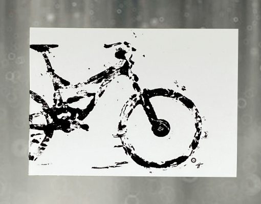 Bicycle Art, Mountain Bike, DownHill, Greeting Card